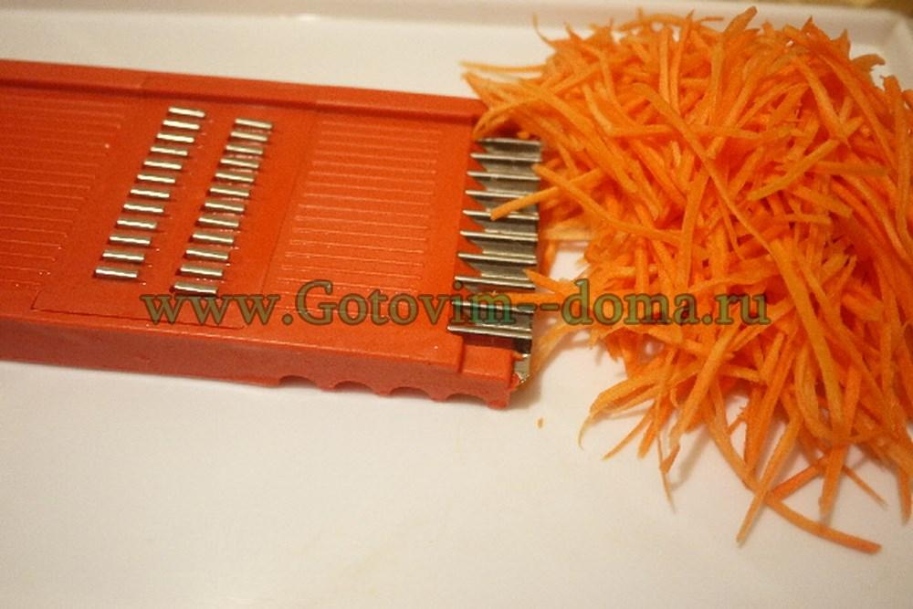 шинкуем морковь готовим доиа