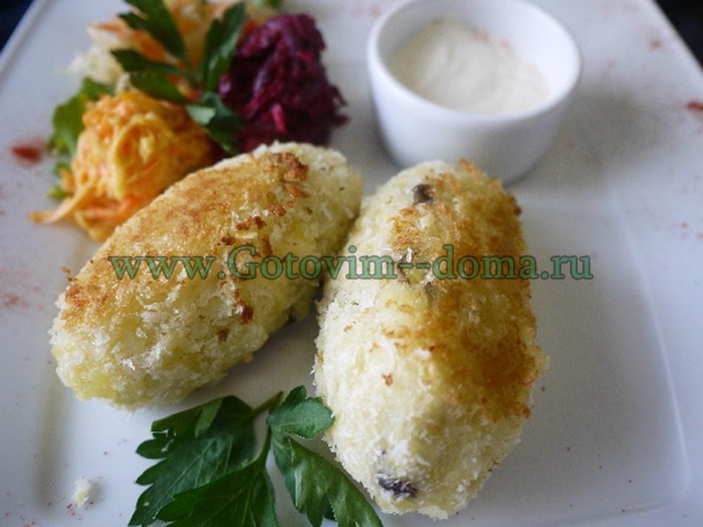 картофельные зразы с грибами готовим дома