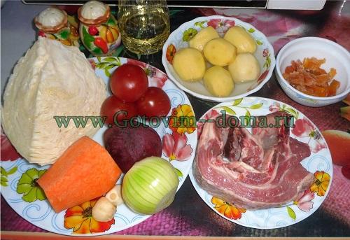 украинский красный борщ продукты готовим дома