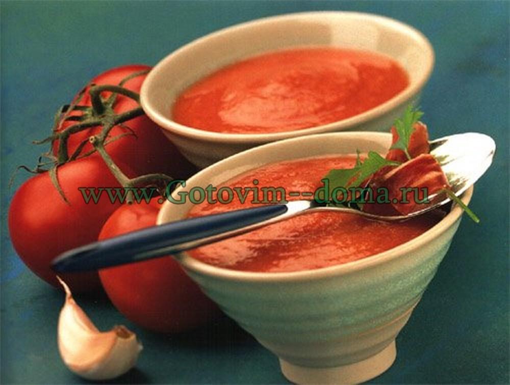"""Томатный суп """"Сальморехо"""" готовим дома"""