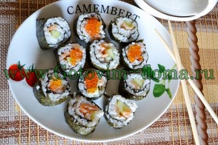 суши украшаем