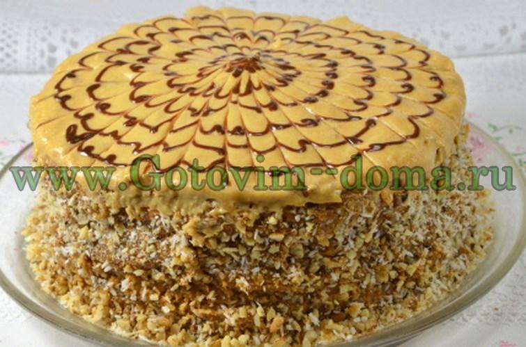 доделываем торт Паутинка готовим дома