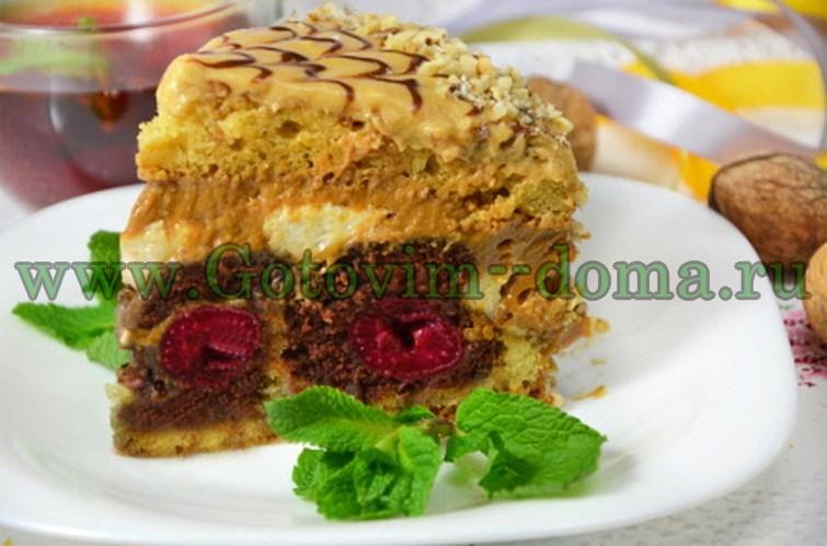 Нарядный торт Паутинка с сюрпризом, подробный пошаговый рецепт с фото.
