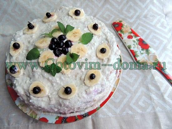 Торт со сметаной Готовим дома