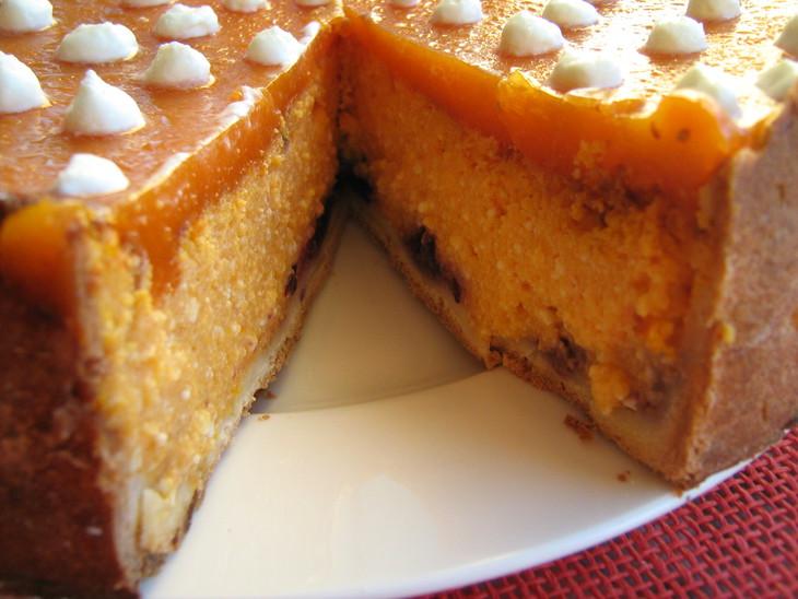 Творожно-тыквенный тортик